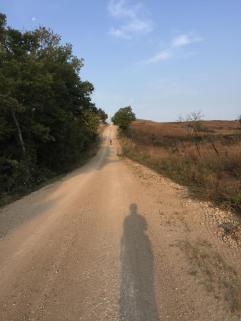 Heading towards the hill.
